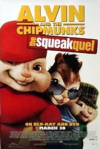 Alvin and the Chipmunks The Squeakquel 2009 Movie Poster 27x40 Used Christina Applegate