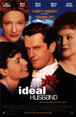 An Ideal Husband Movie Poster 27x40 Used Anna Patrick, Denise Stephenson, Nancy Carroll, John Thompson, Jeremy Northam, Doug Bradley, Oliver Parker, Delia Lindsay, Susannah Wise, Marsha Fitzalan