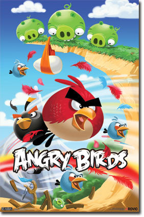 Angry Birds – Attack RP1459 Game Poster 22x34