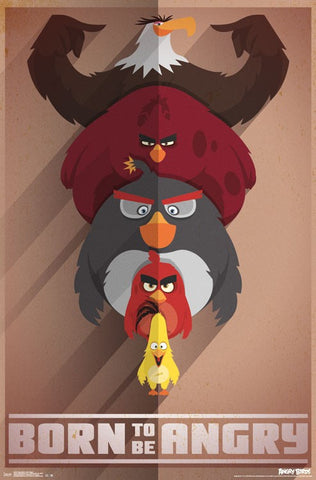 Angry Birds - Born Angry Movie Poster RP14447 23x34 UPC882663044474