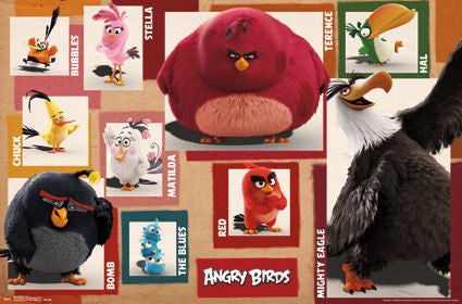 Angry Birds - Chart Movie Poster 22x34 RP14446 UPC882663044467