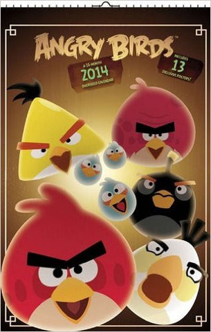 Angry Birds 2014 Oversized Wall Calendar New