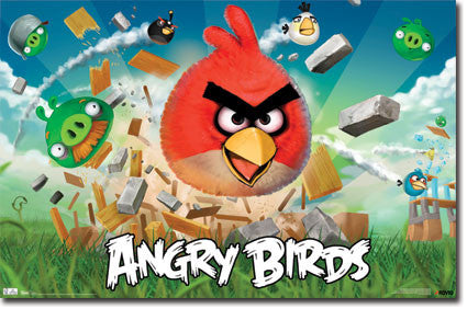 Angry Birds Game Poster RP1303 22x34 New