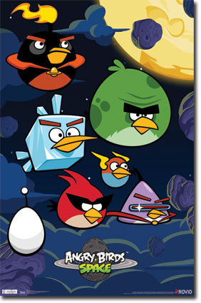 Angry Birds Space – Birds RP5459 Game Poster 22x34 UPC017681054598