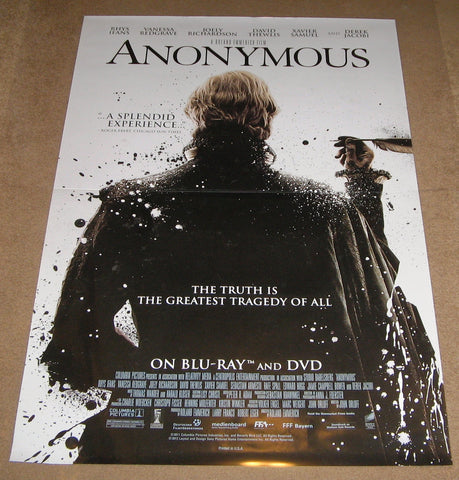 Anonymous Movie Poster 27x40  Used