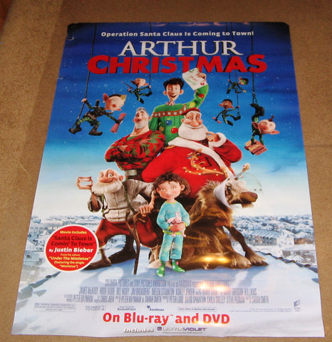 Arthur Christmas Movie Poster 27x40 Used