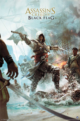 Assassin's Creed 4 – Key Art RP2170 22x34 Movie Game Poster UPC017681021705
