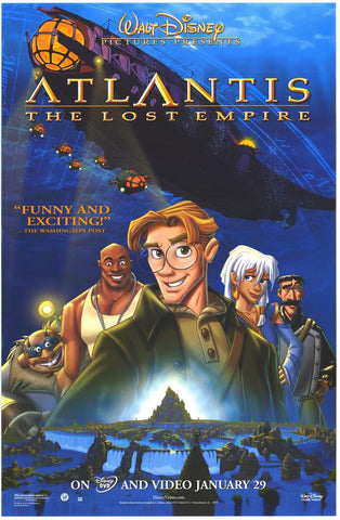 Atlantis the Lost Empire Movie Poster 27x40  Used Disney