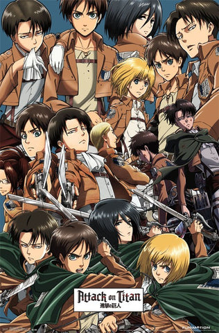 Attack on Titan - Collage Poster 22x34 RP14037 UPC882663040377
