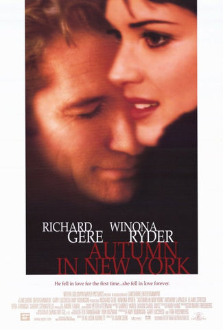 Autumn in New York 2000 Movie Poster 27x40 Used Richard Gere, Winona Ryder
