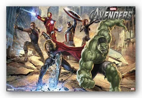 Avengers – Mural Movie Poster RP2013 22x34 UPC017681020135