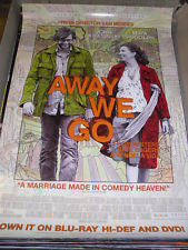 Away We Go Movie Poster 27x40	Used
