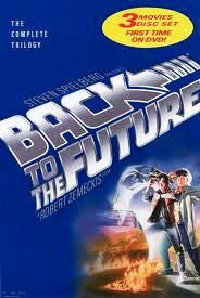 Back to the Future Trilogy Movie Poster 27x40 Used Michael J. Fox