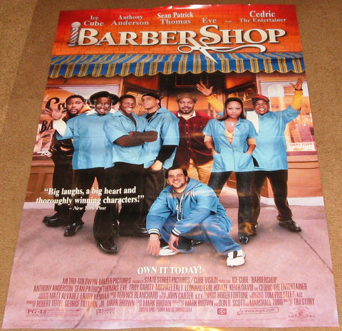 Barbershop Movie Poster 27x40 Used Ice Cube