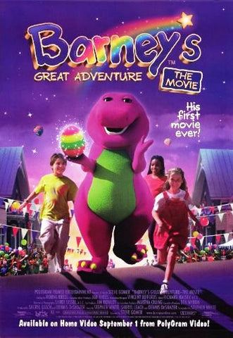 Barney's Great Adventure the Movie, Movie Poster 27x40 Used
