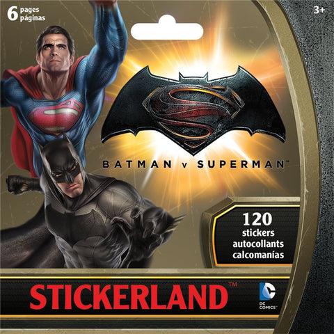 Batman vs. Superman Mini Stickerland Pad 6 page ST2306 UPC042692043125