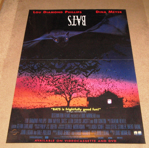 Bats Movie Poster 27x40  Used Lou Diamond Phillips