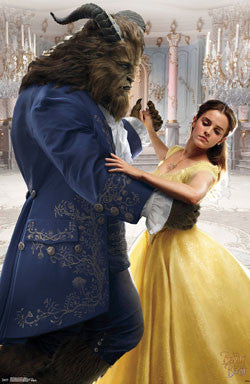 Beauty & The Beast - Dance 22x34 RP15090 UPC882663050901 Disney Rare