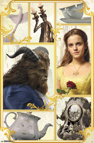Beauty & The Beast - Group Movie Poster 22x34 RP15232 UPC882663052325 Disney