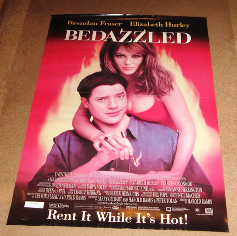 Bedazzled Movie Poster 27x40 Used Brendan Fraser, Elizabeth Hurley