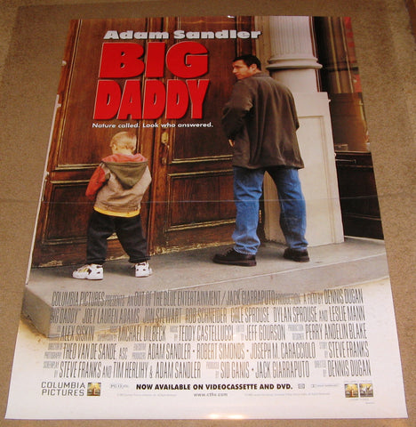Big Daddy Movie Poster 27x40 Used Adam Sandler