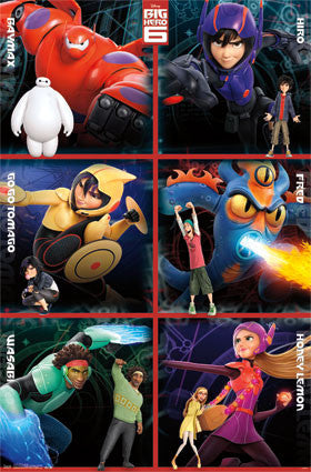 Big Hero 6 - Heroes Movie Poster 22x34 RP2344 UPC017681023440