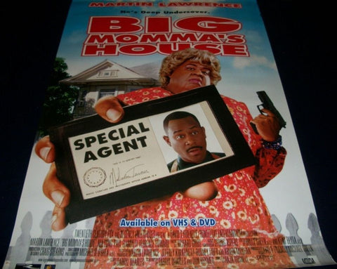 Big Momma's House Movie Poster 27x40 Used Martin Lawrence, Cedric the Entertainer, Nia Long