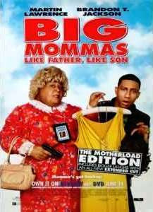 Big Mommas Like Father, Like Son The Motherload Edition Movie Poster 27x40 Used Martin Lawrence, Brandon T. Jackson