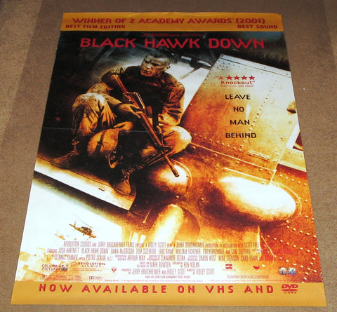 Black Hawk Down Movie Poster 27x40 Used