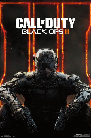 Black Ops 3 - Key Art Game Poster 22x34 RP14317 UPC882663043170 Call Of Duty