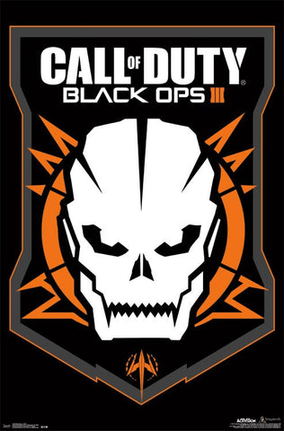 Black Ops 3 - Skull Game Poster RP14318 22x34 UPC882663043187 Call Of Duty