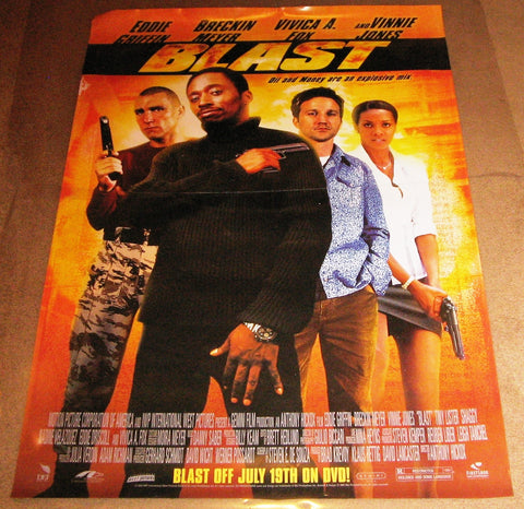 Blast Movie Poster 2004 27x40 Used Eddie Griffin, Vinny Jones, Brekin Meyer, Vivica A. Fox