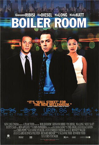 Boiler Room 2000 Movie Poster 27x40 Used Vin Diesel, Nia Long, Ben Affleck