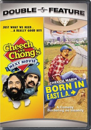 Born In East L.A. and Cheech and Chong's Next Movie Double Feature Movie DVD Used UPC025195006187