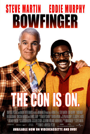 Bowfinger Movie Poster The Con is On 1999 27X40 Used Steve Martin, Eddie Murphy