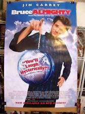 Bruce Almighty Movie Poster 27x40 Used Jim Carrey