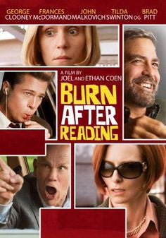 Burn After Reading Movie DVD 2008 Used George Clooney, Brad Pitt, Francis McDormand, John Malkovich UPC025195016490