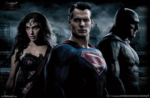 BvS - Trio Wall and Movie Poster 22x34 RP14224 UPC882663042241 Batman Vs Superman DC Comics