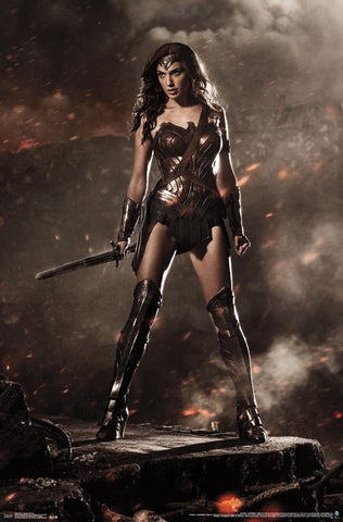 BvS - Wonder Woman Wall and Movie Poster 22x34 RP14225 UPC882663042258 Batman Vs Superman DC Comics