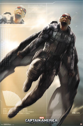 Captain America 2 – Falcon Movie Poster RP13149 22x34 UPC88266031498 Marvel