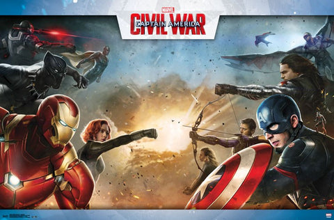 Captain America 3 - Civil War Movie Poster RP14070 UPC882663040704 23x34