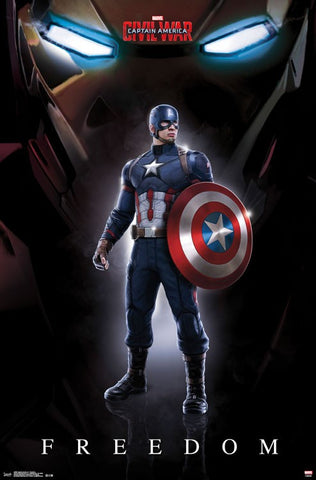 Captain America 3 - Freedom Movie Poster 22x34 RP14068 UPC882663040681 Marvel