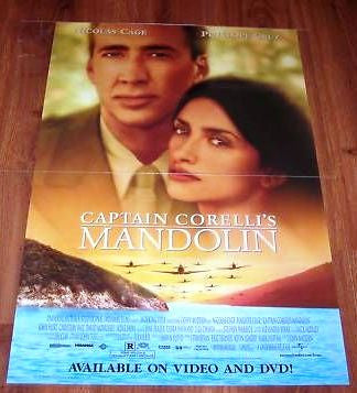 Captain Corelli's Mandolin Movie Poster 27x40 Used Nicolas Cage