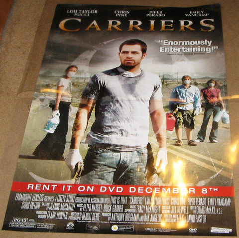 Carriers 2009 Movie Poster 27x40 Used Chris Pine