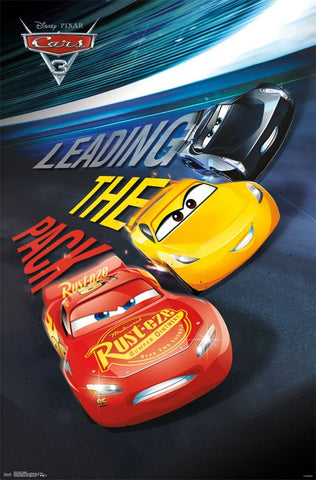 Cars 3 Group Movie Poster Rp15728 22x34 Upc882663053728 Disney Pixar Mason City Poster Company