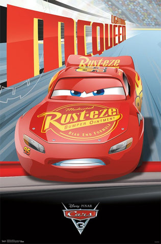 Cars 3 - Lightning Movie Poster RP15093 22x34 UPC882663050932 Disney Pixar