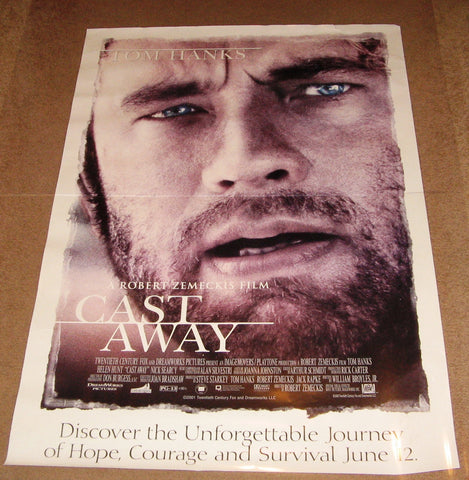 Cast Away Movie Poster 27x40  Used Tom Hanks