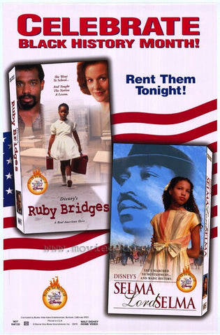 Celebrate Black History Month Ruby Bridges & Selma Lord Selma Movie Poster 27x40 Used Disney