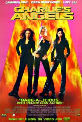 Charlie's Angels 2000 Movie Poster 27x40 Used Drew Barrymore, LL Cool J, Bill Murray, Cameron Diaz, Tim Curray