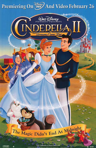 Cinderella 2: Dreams Come True 27x40  Used Walt Disney